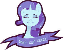 Size: 1343x1061 | Tagged: safe, artist:xebck, rarity, advice, chalk, eyes closed, good advice, limited palette, mouthpiece, obvious, old banner, parody, public service announcement, simple background, solo, transparent background, vector