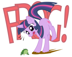 Size: 1440x1138   Tagged: safe, artist:sonicj, twilight sparkle, frog, simple background, solo, transparent background