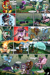 Size: 1280x1920 | Tagged: alicorn, artist:gray--day, butt wings, comic, comic:of kings and changelings, evil cadance, former good king sombra, gilda, good king sombra, griffon, i can't believe it's not idw, king sombra, maud pie, mirror universe, pony, princess cadance, queen chrysalis, race swap, reversalis, safe, sunset shimmer, trixie, trixiecorn