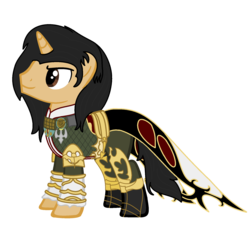 Size: 1800x1800 | Tagged: safe, artist:peternators, artist:redmagepony, pony, unicorn, base used, final fantasy, final fantasy xii, male, ms paint, ponified, smiling, solo, vayne carudas solidor