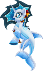 Size: 607x1000 | Tagged: safe, artist:blackfreya, oc, oc only, oc:sea breeze, merpony, happy, open mouth, simple background, solo, species swap, transparent background