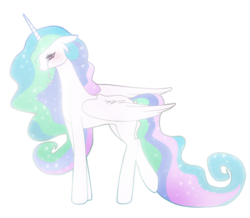 Size: 879x768 | Tagged: safe, artist:lunaltaria, princess celestia, pony, crying, female, floppy ears, mare, simple background, solo, transparent background