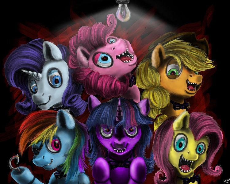Speedpaint Mane 6 Creepy Mlp: Should The Banner Be Changed/updated