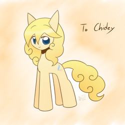 Size: 1500x1500 | Tagged: safe, artist:howxu, oc, oc only, oc:chidey, earth pony, pony, female, mare, solo