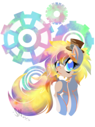 Size: 1070x1426 | Tagged: safe, artist:bamboodog, oc, oc only, oc:timestep, earth pony, pony, offspring, parent:doctor whooves, parent:unnamed oc, parents:canon x oc, solo
