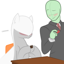 Size: 3742x3718 | Tagged: safe, artist:jessy, artist:plone, oc, oc only, oc:anon, original species, plane pony, pony, predator drone, blushing, cute, desk, growling, high res, plane, simple background, smiling, transparent background, vector