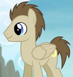 Size: 920x968 | Tagged: safe, screencap, crescent pony, mane moon, pegasus, pony, rainbow falls, background pony, cropped, male, solo, stallion