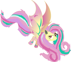 Size: 2474x2156 | Tagged: safe, artist:lillygeneva, fluttershy, female, flutterbat, rainbow power, rainbow power-ified, simple background, solo, transparent background, vector