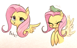 Size: 3051x1922 | Tagged: safe, artist:glacierclear, artist:glacierclear edits, edit, fluttershy, pegasus, pony, :t, blushing, cute, daaaaaaaaaaaw, disembodied hand, eyes closed, female, flapping, flapping wings, hand, hnnng, mare, pet request, petting, pouting, puffy cheeks, shyabetes, simple background, sketch, smiling, spread wings, weapons-grade cute, white background