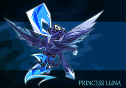 Size: 1600x1119 | Tagged: safe, artist:tyuubatu, princess luna, pixiv, solo