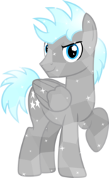 Size: 1600x2597 | Tagged: safe, artist:chainchomp2, twilight sky, crystal pony, pegasus, pony, alternate hairstyle, crystallized, looking at you, raised hoof, simple background, solo, transparent background, vector