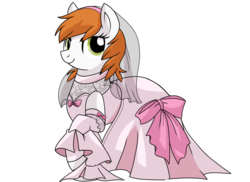 Size: 900x655   Tagged: safe, artist:itstaylor-made, clothes, cornet, dress, ponified, rhapsody: a musical adventure, solo, wedding dress