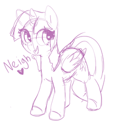 Size: 674x722 | Tagged: safe, artist:mewball, twilight sparkle, alicorn, pony, cute, female, heart, horse noises, horses doing horse things, mare, monochrome, neigh, open mouth, simple background, sketch, smiling, solo, twiabetes, twilight sparkle (alicorn), white background