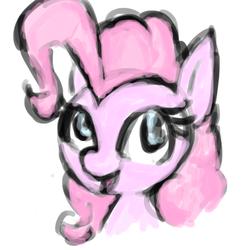 Size: 523x531 | Tagged: safe, artist:gezawatt, pinkie pie, earth pony, pony, bust, colored, digital art, krita, sketch, solo