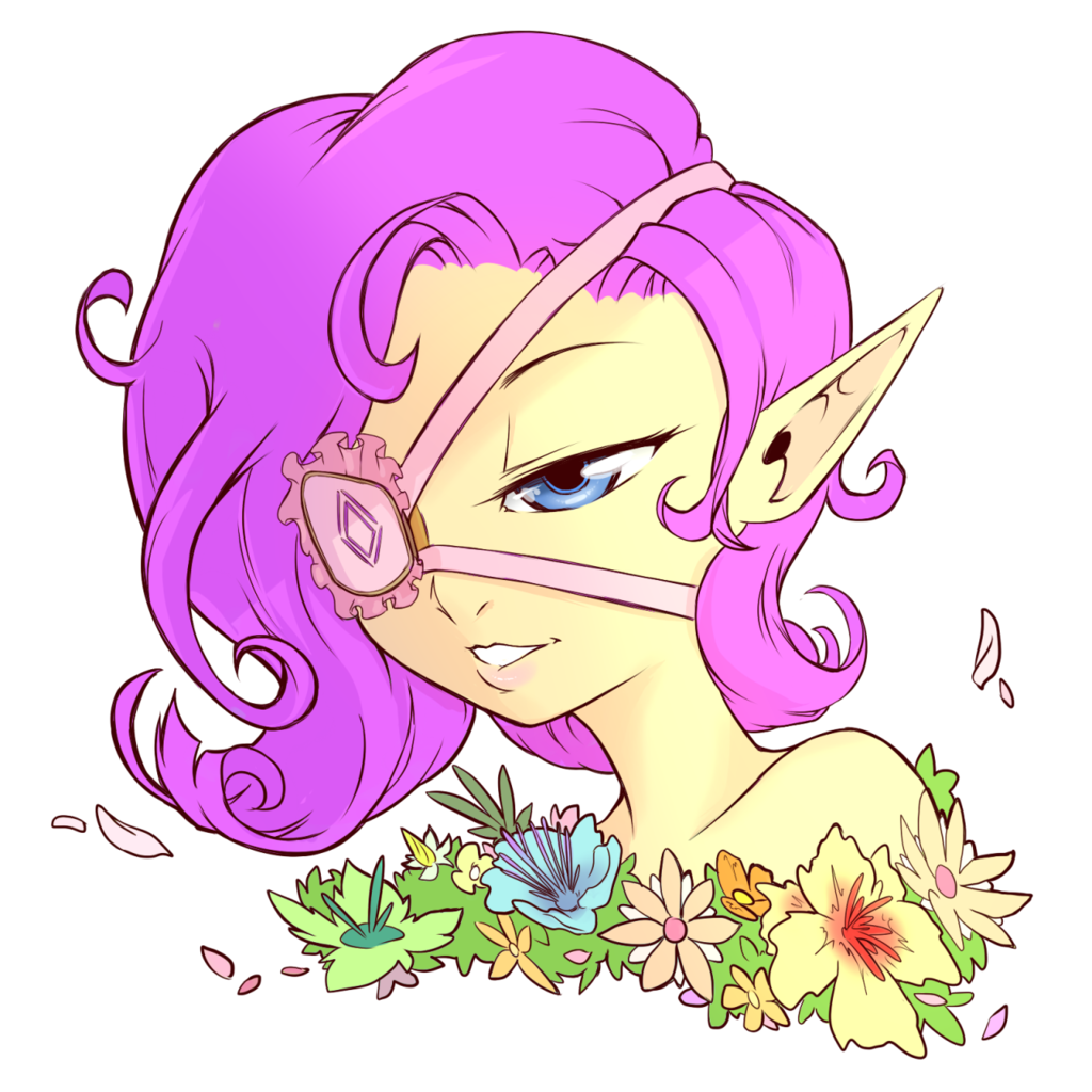 856468 Artist Cold Blooded Twilight Curly Hair Elf Elf Ears