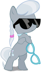 Size: 430x750 | Tagged: artist needed, badass, bipedal, crossed legs, cute, deal with it, glasses, pony, safe, silverbetes, silver spoon, simple background, solo, sunglasses, transparent background, vector