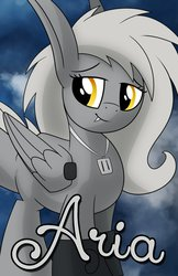 Size: 719x1112 | Tagged: artist:drawponies, badge, con badge, female, oc, oc:aria, oc only, safe, solo