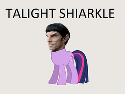 Size: 832x630 | Tagged: edit, humanoid, meta, pun, romulan, safe, solo, star trek, talight shiarkle, tal shiar, twilight sparkle, vector