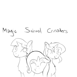 Size: 1200x1200 | Tagged: artist:phagearchives, counterparts, magical trio, pony, safe, sunset shimmer, trixie, twilight's counterparts, twilight sparkle, unicorn, younger
