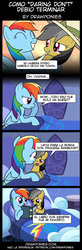 Size: 850x2599 | Tagged: artist:drawponies, book, comic, daringdash, daring do, lesbian, rainbow dash, safe, shipping, spanish, translation, translator:the-luna-fan
