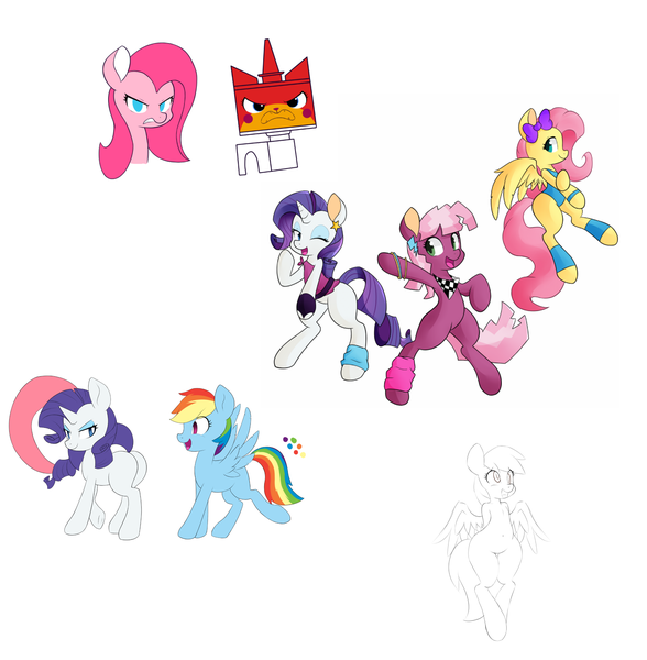 -cat, cheerilee, derpy hooves, fluttershy, lego, pinkie pie, plot ...