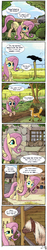 Size: 1000x5337 | Tagged: safe, artist:fidzfox, fluttershy, bird, cat, crow, fox, horse, pegasus, pony, shetland pony, :o, barn, comic, confused, cute, dialogue, earth, eyes closed, farm, female, frown, furry confusion, hair over eyes, hidden eyes, horse-pony interaction, irony, leaning, mare, mlp meets real world, open mouth, pony on earth, raised eyebrow, raised hoof, raised leg, shyabetes, smiling, solo, speech bubble, spread wings, surprised, tractor, wide eyes, wings