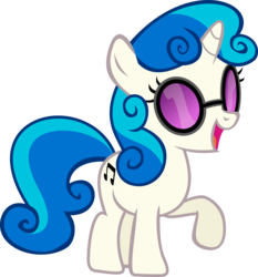 Size: 9315x10000   Tagged: safe, artist:uxyd, color edit, dj pon-3, sweetie belle, vinyl scratch, pony, unicorn, absurd resolution, cutie mark, female, filly, foal, fusion, hooves, horn, open mouth, simple background, solo, sunglasses, transparent background, vector