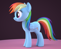 Size: 960x768 | Tagged: 3d, 3d model, artist:creatorofpony, blender, dead source, female, mare, /mlp/, pegasus, pony, rainbow dash, safe, solo, wip