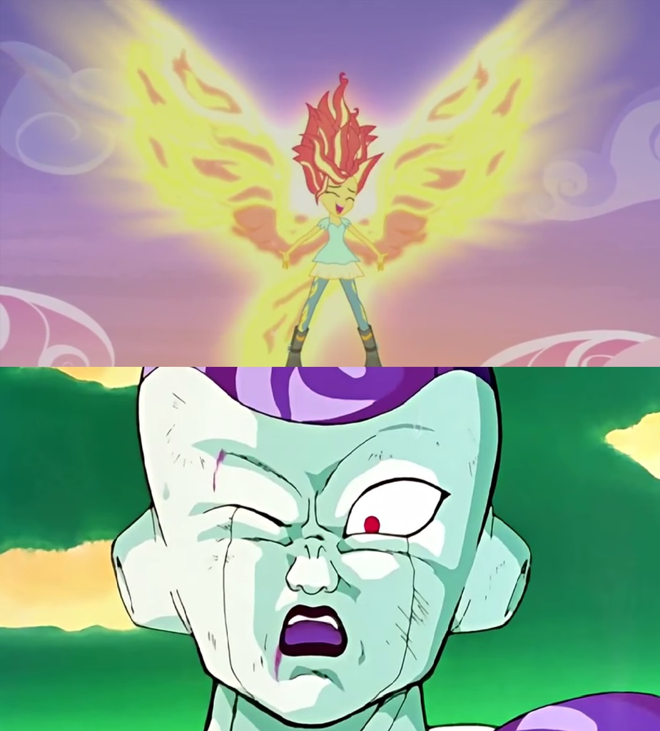 862263 Dragon Ball Z Edit Equestria Girls Fiery Wings Frieza
