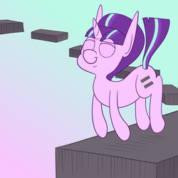 Size: 1920x1920 | Tagged: abstract, artist:varmintfarm, safe, starlight glimmer, void