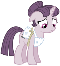 Size: 7528x8192 | Tagged: safe, artist:thatguy1945, sugar belle, pony, unicorn, the cutie map, .svg available, absurd resolution, apron, clothes, cute, equal cutie mark, equalized, female, floppy ears, mare, sad, sadorable, simple background, solo, sugarbetes, transparent background, vector