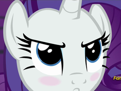 Size: 1024x768 | Tagged: safe, screencap, rarity, castle sweet castle, angry, blushing, close-up, solo