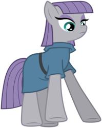 Size: 1319x1658 | Tagged: safe, artist:k-anon, maud pie, maud pie (episode), looking down, simple background, solo, svg, transparent background, vector