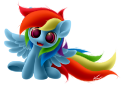 Size: 2000x1375 | Tagged: safe, artist:symbianl, rainbow dash, chibi, cute, dashabetes, solo, symbianl is trying to murder us, weapons-grade cute