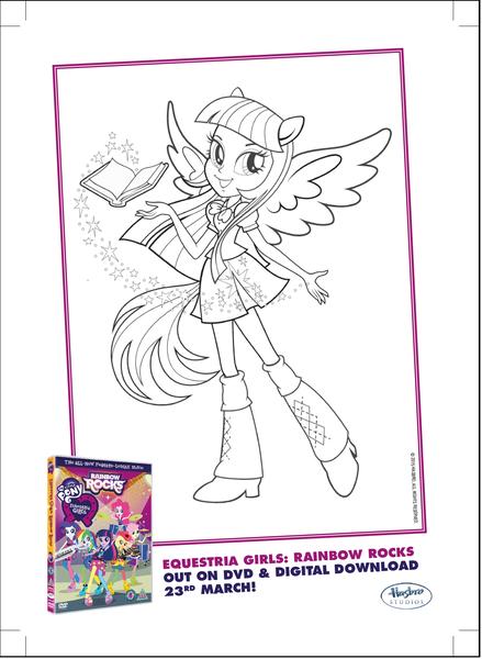 874651 Applejack Coloring Page Equestria Girls