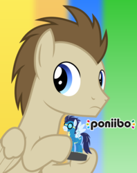 Size: 1280x1614 | Tagged: safe, artist:chainchomp2, crescent pony, mane moon, soarin', pegasus, pony, amiibo, crossover, looking back, pun, vector
