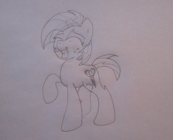 Size: 2048x1652 | Tagged: safe, babs seed, bloom and gloom, cutie mark, female, scissors, solo, traditional art