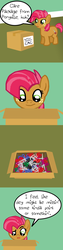 Size: 1500x5996 | Tagged: safe, artist:oneovertwo, babs seed, bloom and gloom, comic, female, scissors, solo