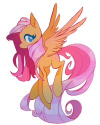 Size: 840x1048 | Tagged: safe, artist:chop4, fluttershy, pegasus, pony, cute, ear fluff, female, flying, long tail, looking at you, mare, no pupils, shyabetes, simple background, solo, spread wings, transparent background