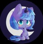 Size: 1170x1185 | Tagged: safe, artist:puffleduck, princess luna, anthro, blushing, chibi, s1 luna, solo