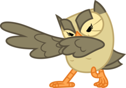 Size: 3552x2484 | Tagged: safe, artist:porygon2z, owlowiscious, action pose, glare, looking at you, simple background, solo, spread wings, transparent background, vector