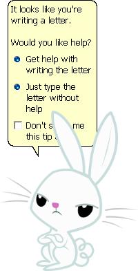 863206 - angel bunny, barely pony related, clippy, microsoft