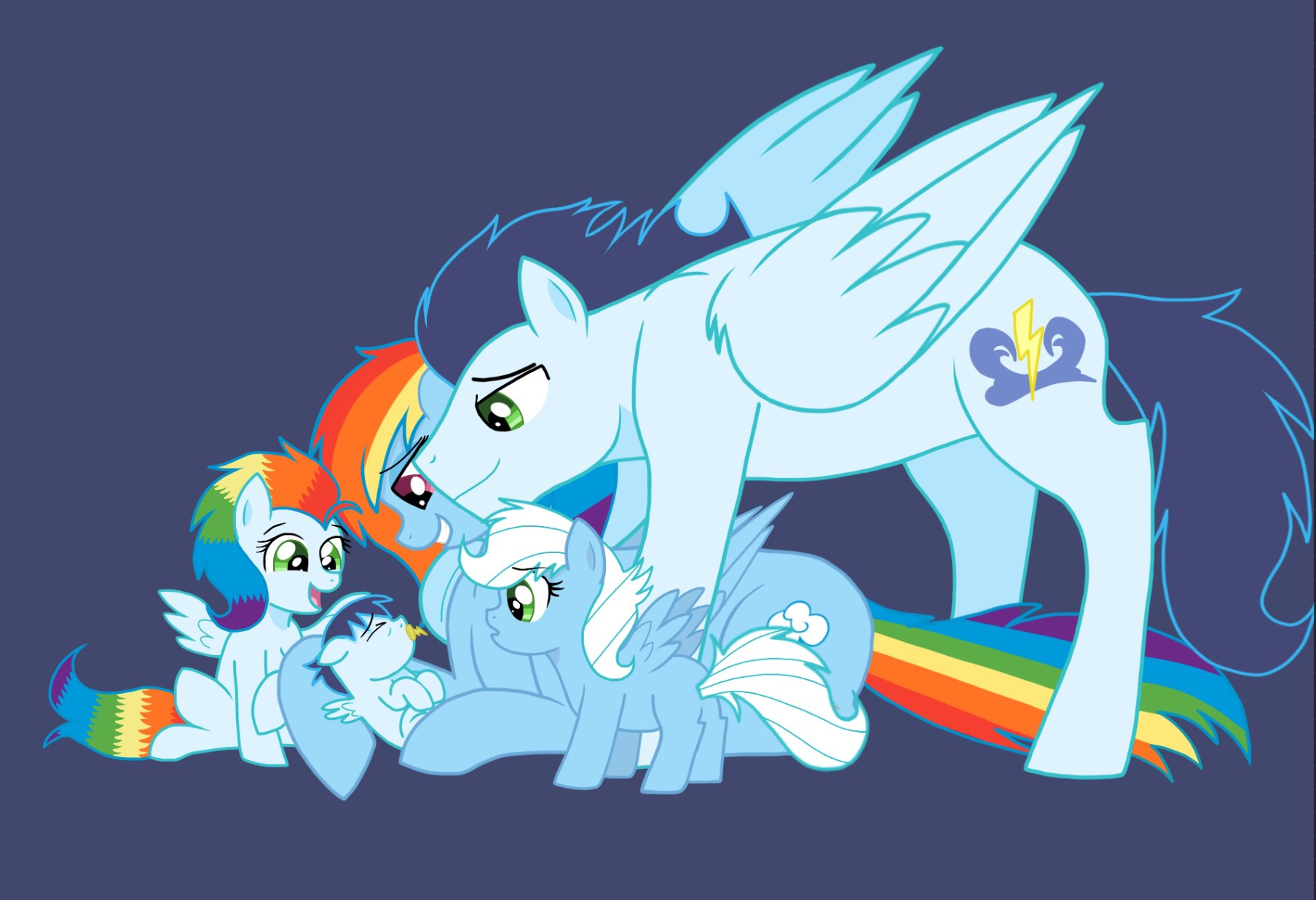 Rainbow Dash And Soarin Family | www.imgkid.com - The ...