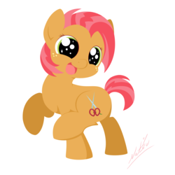 Size: 2000x2000 | Tagged: safe, artist:natsu714, babs seed, bloom and gloom, adorababs, cute, female, solo