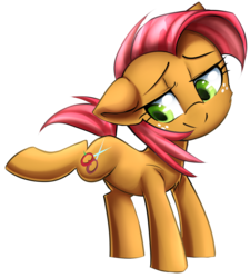Size: 1455x1620 | Tagged: safe, artist:meotashie, babs seed, bloom and gloom, female, solo