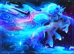 Size: 2222x1622 | Tagged: safe, artist:koveliana, princess luna, chromatic aberration, color porn, female, solo