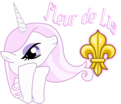 Size: 962x830 | Tagged: safe, artist:pinkanon, fleur-de-lis, cutie mark, head in hooves, looking at you, portrait, smiling