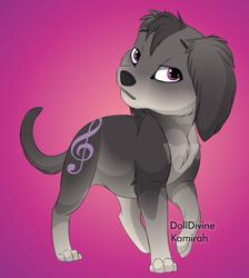 Size: 492x550 | Tagged: safe, octavia melody, dog, cutie mark, furry, species swap