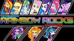 Size: 1920x1080 | Tagged: safe, artist:givralix, artist:sketchmcreations, artist:xyzextreme13, adagio dazzle, applejack, aria blaze, fluttershy, pinkie pie, rainbow dash, rarity, sonata dusk, sunset shimmer, twilight sparkle, equestria girls, rainbow rocks, humane five, humane seven, humane six, ponied up, the dazzlings, the rainbooms, twilight sparkle (alicorn), vector, wallpaper