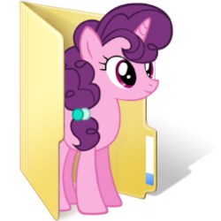 Size: 256x256 | Tagged: safe, artist:anonymous folder icon maker, artist:drlonepony, edit, sugar belle, computer icon, female, folder, simple background, solo, transparent background, vector